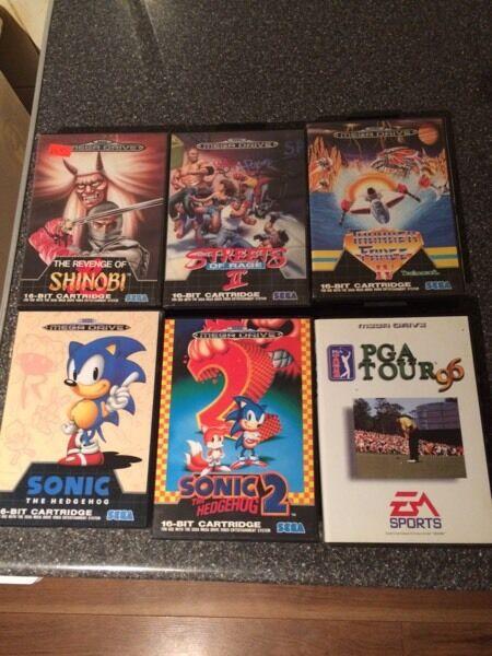 6 Sega Mega Drive Games