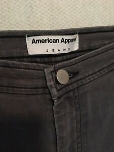 Grey American Apparel high waisted jeans