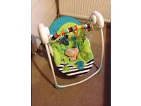 brightstar baby swing, with multiple speed settings.