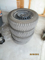 Winter tires 15 in. with 5 holes rims