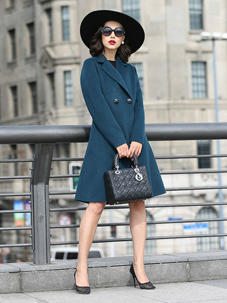 Casual Wool Blend Long Trench Coat