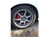 Genuine Enkei RS Evolution 3 piece split alloys