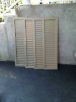 House windows side shutters