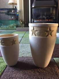 Christmas vases