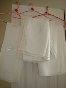 Linen, Lace, & crocheted tablecloths/runners-lg qty–indiv prices