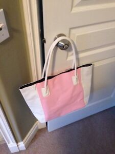 Brand new pink and white tote