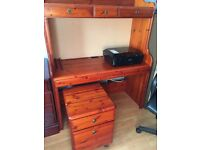 Ducal 3 piece cherry wood office furniture