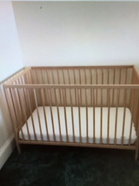 IKEA Sniglar cotin Timsbury, SomersetGumtree - IKEA sniglar cot for sale (without mattress) in excellent used condition. Its only had occasional use as kept for sleepovers at Grannys! Pictured on the lowest setting but can also be raised. Dismantled and ready for collection