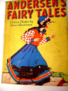 1940s rare WARTIME ANDERSEN'S FAIRY TALES plates Anne Anderson
