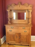 Gorgeous Antique Victorian Oak Sideboard Hutch Server