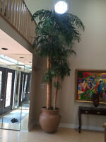 Distinctive Artificial Palm Tree 12 ft with Terracotta Clay Pot