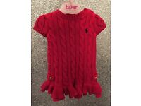 Ralph Lauren designer knitted dress and cardigan