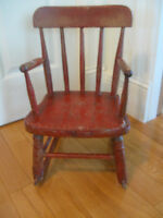ADORABLE LITTLE ANTIQUE SMALL CHILD'S PLAY-ROOM ROCKER