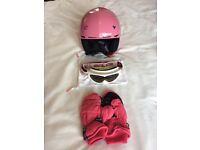 Ski Helmet, Salice Ski Goggles & Thinsulate Ski Mittens
