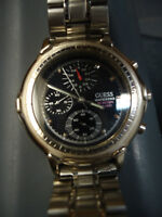 Stylish GUESS Multi-Function Men's Watch with Metal Strap