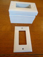 White PLastic 2-Outlet Wall Plates (Qty 20)