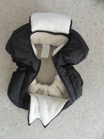 Black Insulated Car Seat Cover For Infant Bucket Seat Like New