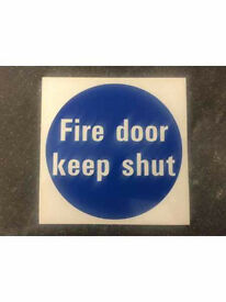 FIRE DOOR STICKERS X 257