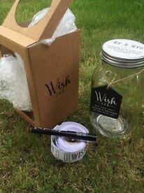 Wedding wish jar guest book alternative