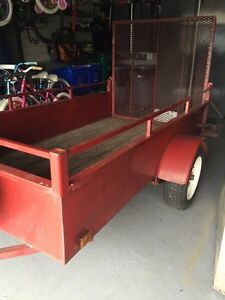 "Utility trailer,  steel, great condition 50""x8' ramp gate."