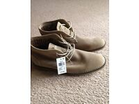Never worn Mens light tan size 7 boots