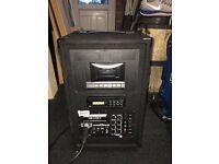 Carlsbro the wanderer deluxe II portable PA system , karaoke machine 50w