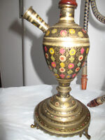 50 year old Beautiful Authentic Brass Indian Hookah