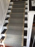 Carpet installation professional stairs work