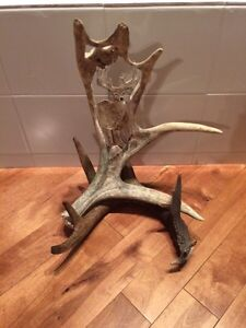 Hand crafted deer and moose antlers