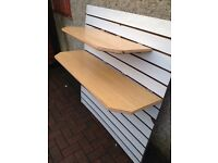 ** 2 HEAVY DUTY SLATWALL SHELVES FOR SALE** VERY STRONG**