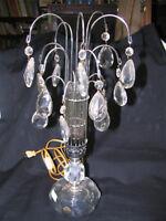 LAMPE PARAPLUIE DE BUREAU EN CHROME ET VERRE + GLANDS
