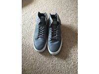 Vans grey leather boots size 8.5