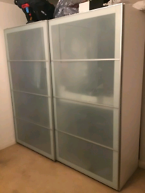 Large ikea pax wardrobe with sliding doors