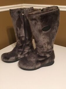 Seal skin boots and purse
