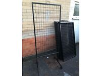 Free standing Grid mesh Panels with wheels