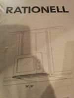 Never used IKEA Rationell microwave shelf