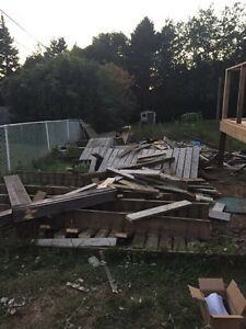 Free wood from demolished deck