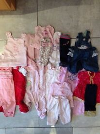 0-3 months selection of baby girl clothes