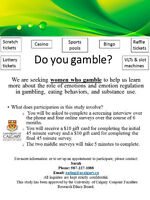 Do you gamble? Females needed for online study!