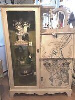 "Hand Painted ""Alice in Wonderland"" cabinet"