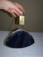 Vintage navy blue evening purse
