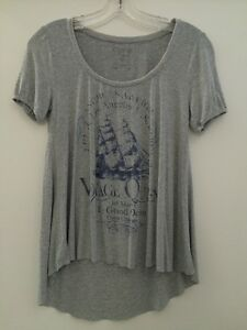 Ladies T-Shirt From Guess - Grey - Small - Brand New Condition