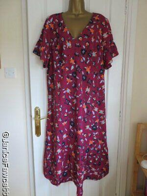 Junarose - Ruffle Sleeve Midi Dress - Size 20 - NEW - RRP £55