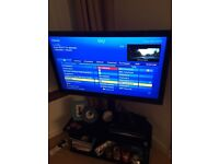 LG 42 inch LCD TV and STAND and SONY DVD Player