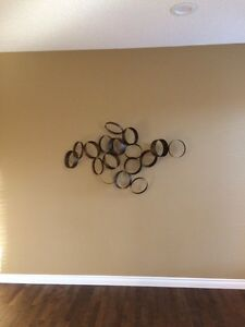 Funky metal wall art piece
