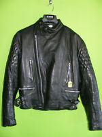 1980's Cafe Style Leather Jacket - Medium at RE-GEAR