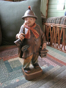 """Antique hand carved """" Night watchman"""" London Ontario image 4"""