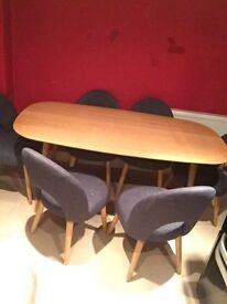 Soild wood dinning table and 6 chairs