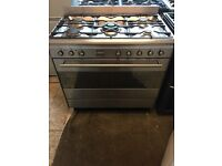 Smeg range gas cooker and electric oven 90cm