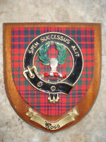 vintage Ross clan coat of arms plaque